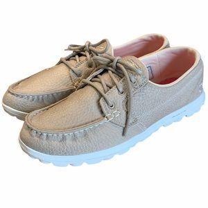 Skechers Tan Gogomat On the go Boat shoes Memory 9
